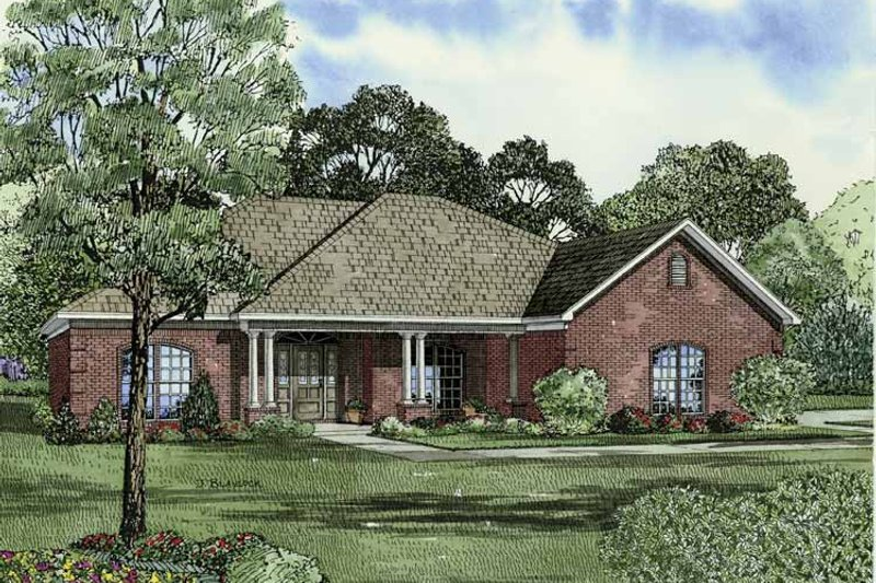 Traditional Exterior - Front Elevation Plan #17-2831 - Houseplans.com