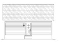 Country Exterior - Rear Elevation Plan #932-191