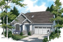 House Plan Design - Traditional Exterior - Front Elevation Plan #48-420