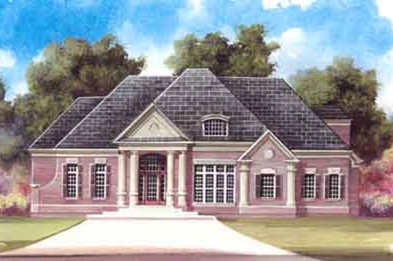 Dream House Plan - European Exterior - Front Elevation Plan #119-195
