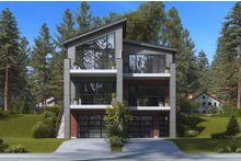 House Plan Design - Contemporary Exterior - Front Elevation Plan #1066-71