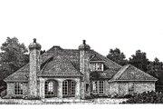 European Style House Plan - 3 Beds 2.5 Baths 2684 Sq/Ft Plan #310-271 Exterior - Rear Elevation