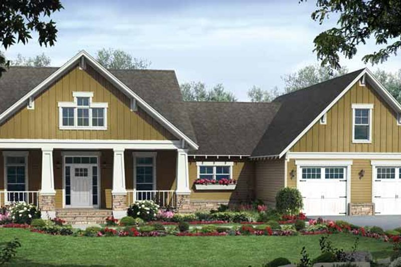 Country Exterior - Front Elevation Plan #21-427 - Houseplans.com