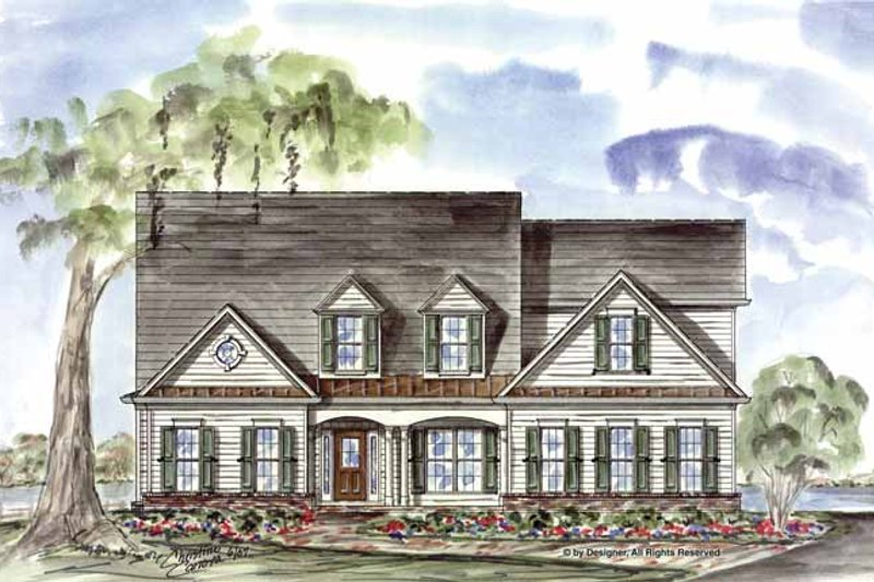 Country Exterior - Front Elevation Plan #54-335