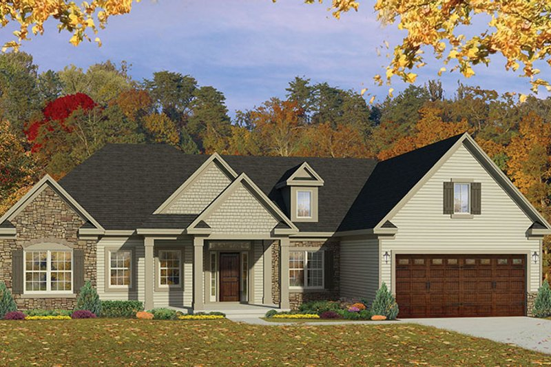 Ranch Exterior - Front Elevation Plan #1010-151 - Houseplans.com