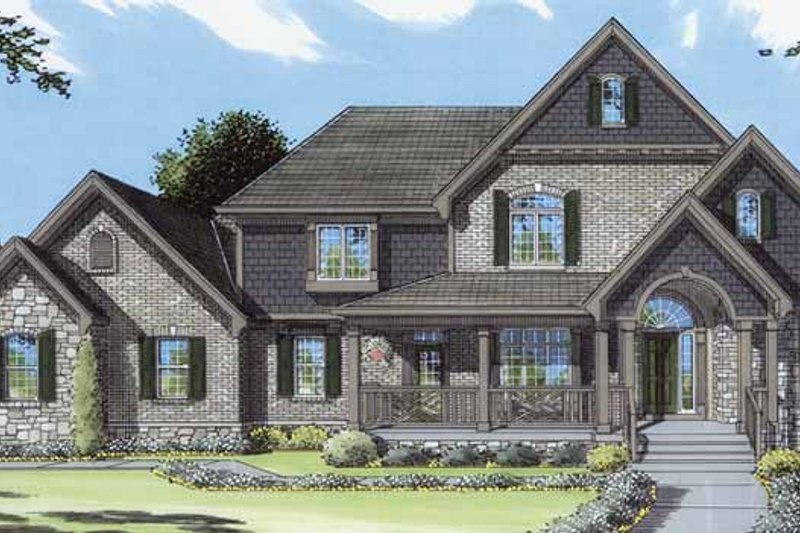 Country Exterior - Front Elevation Plan #46-816