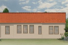 Architectural House Design - Mediterranean Exterior - Rear Elevation Plan #1058-2