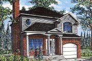 European Style House Plan - 3 Beds 1.5 Baths 1371 Sq/Ft Plan #138-220 Exterior - Front Elevation