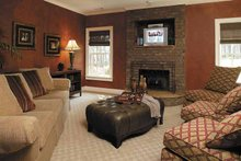 Colonial Interior - Family Room Plan #930-220