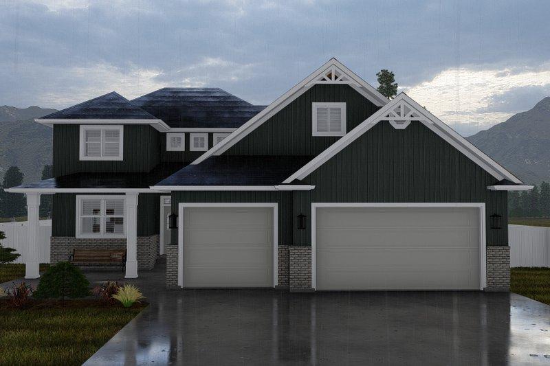Dream House Plan - Craftsman Exterior - Front Elevation Plan #1060-52