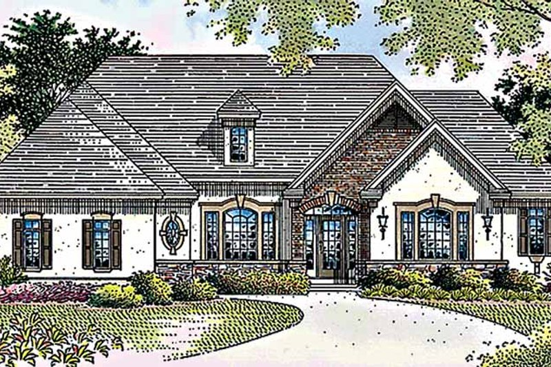 Country Exterior - Front Elevation Plan #51-903