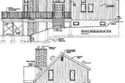 Contemporary Style House Plan - 4 Beds 2 Baths 1500 Sq/Ft Plan #3-119 Exterior - Rear Elevation