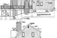 Home Plan - Contemporary Exterior - Rear Elevation Plan #3-119
