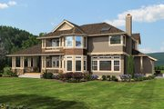 Craftsman Style House Plan - 4 Beds 2.5 Baths 2770 Sq/Ft Plan #132-121 Exterior - Rear Elevation