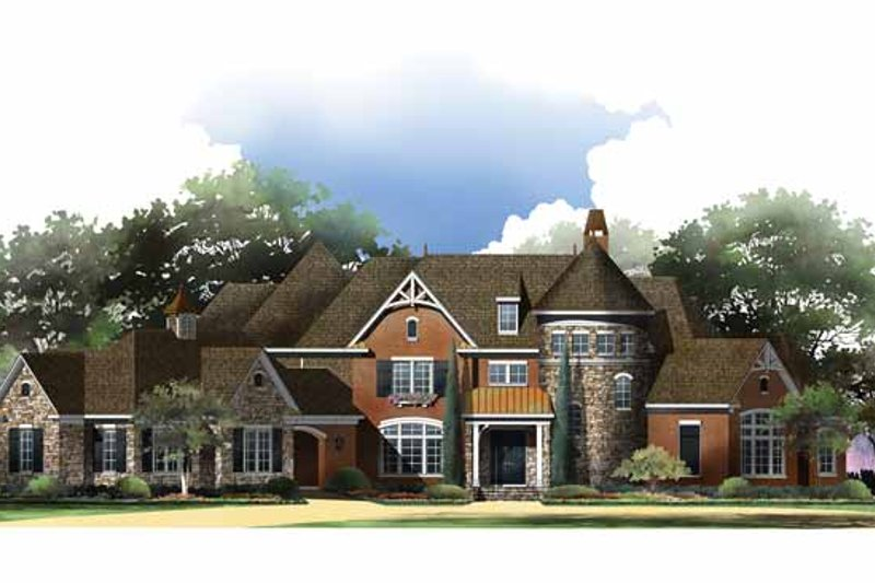 European Exterior - Front Elevation Plan #952-207