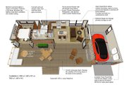 Contemporary Style House Plan - 1 Beds 1 Baths 480 Sq/Ft Plan #484-6 Floor Plan - Main Floor Plan