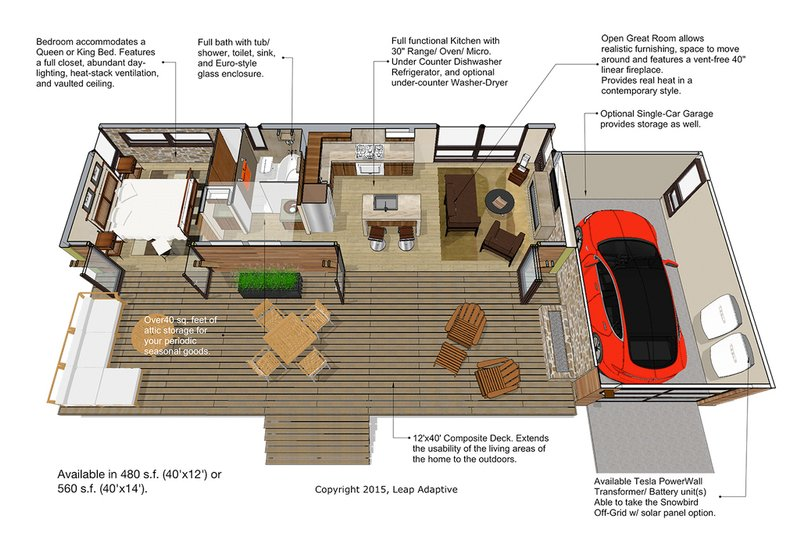 Contemporary Floor Plan - Main Floor Plan Plan #484-6