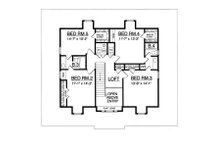 Country Floor Plan - Upper Floor Plan Plan #40-438