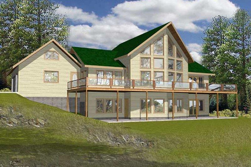 Country Exterior - Rear Elevation Plan #117-816 - Houseplans.com