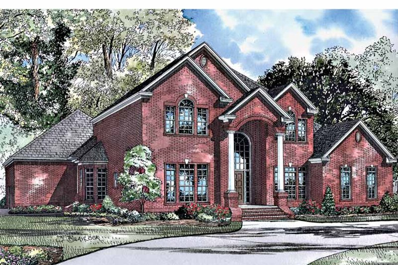Traditional Exterior - Front Elevation Plan #17-3024 - Houseplans.com
