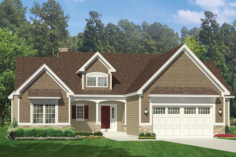Ranch Exterior - Front Elevation Plan #1010-142 - Houseplans.com