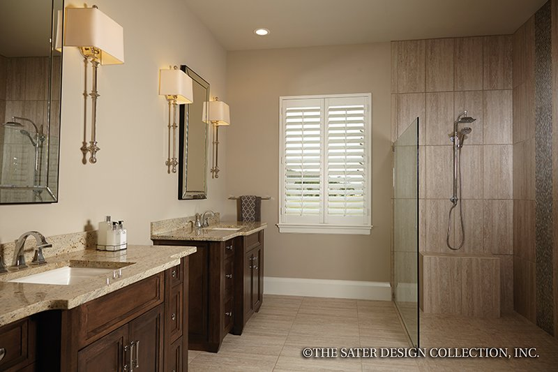 Mediterranean Interior - Master Bathroom Plan #930-456 - Houseplans.com