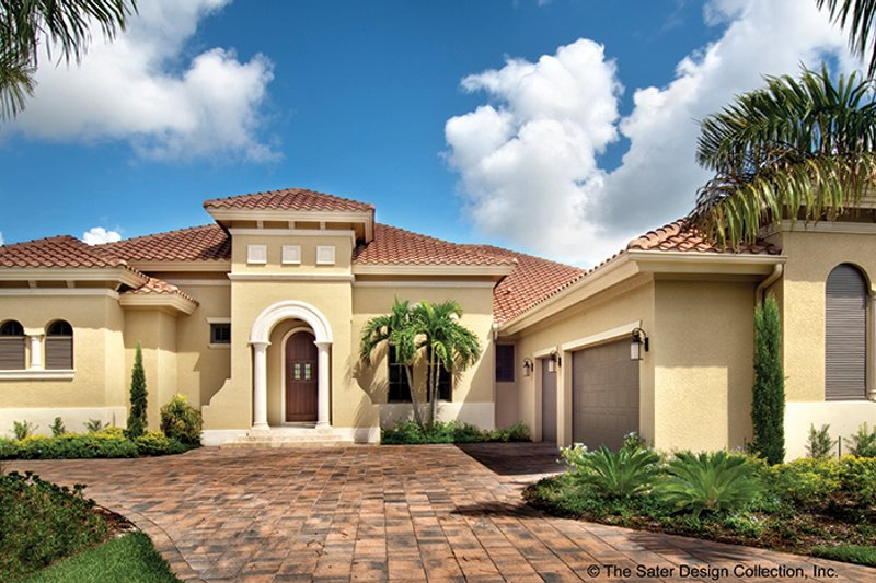 Mediterranean Exterior - Front Elevation Plan #930-446 - Houseplans.com