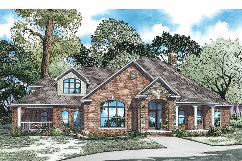 Country Exterior - Front Elevation Plan #17-2972 - Houseplans.com