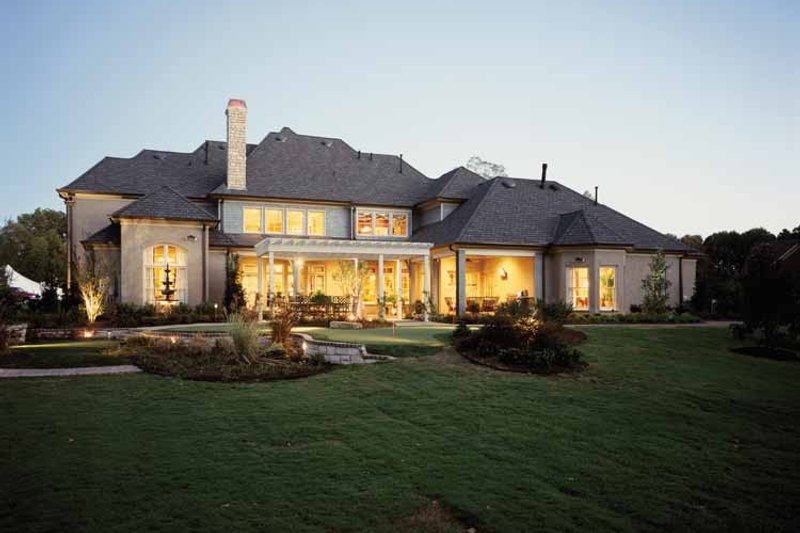 Country Exterior - Rear Elevation Plan #952-182 - Houseplans.com