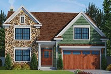 Country Exterior - Front Elevation Plan #20-2252