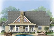 European Style House Plan - 3 Beds 2.5 Baths 2170 Sq/Ft Plan #929-859 Exterior - Rear Elevation