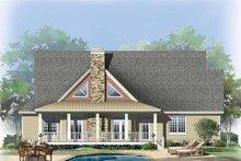 House Plan Design - European Exterior - Rear Elevation Plan #929-859