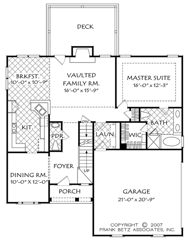 European Floor Plan - Main Floor Plan Plan #927-967