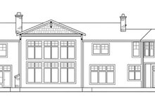 Home Plan - Craftsman Exterior - Rear Elevation Plan #124-674