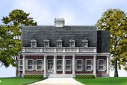 Classical Style House Plan - 4 Beds 4 Baths 2674 Sq/Ft Plan #119-155 Exterior - Front Elevation