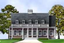 Architectural House Design - Classical Exterior - Front Elevation Plan #119-155