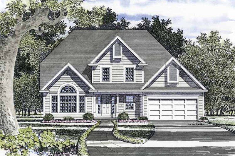 Traditional Exterior - Front Elevation Plan #316-218