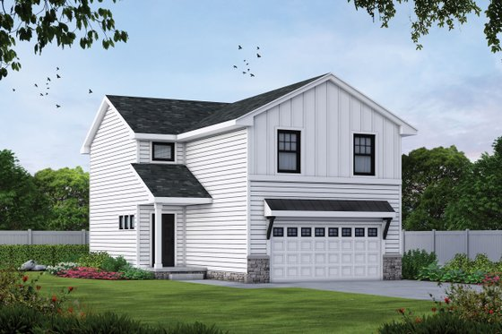 Farmhouse Exterior - Front Elevation Plan #20-2427