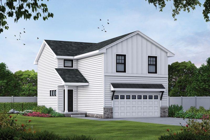 Architectural House Design - Farmhouse Exterior - Front Elevation Plan #20-2427