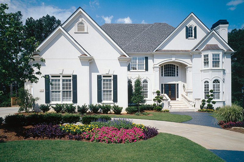 European Exterior - Front Elevation Plan #927-199 - Houseplans.com