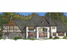 European Exterior - Rear Elevation Plan #1016-95