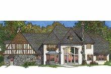 Architectural House Design - European Exterior - Rear Elevation Plan #1016-95