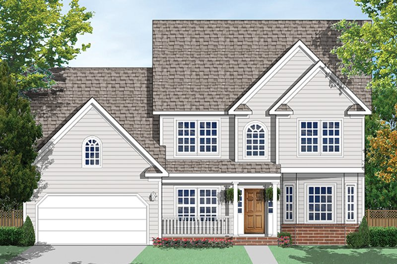 Country Exterior - Front Elevation Plan #1053-70 - Houseplans.com