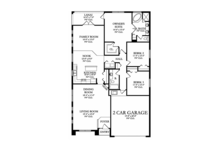 Craftsman Floor Plan - Main Floor Plan Plan #1058-67