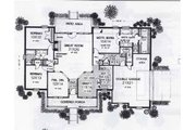 Colonial Style House Plan - 3 Beds 2 Baths 2354 Sq/Ft Plan #310-802 Floor Plan - Main Floor