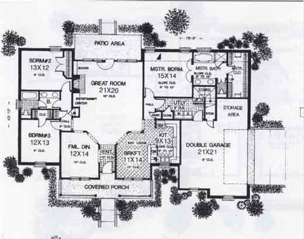 Colonial Floor Plan - Main Floor Plan #310-802