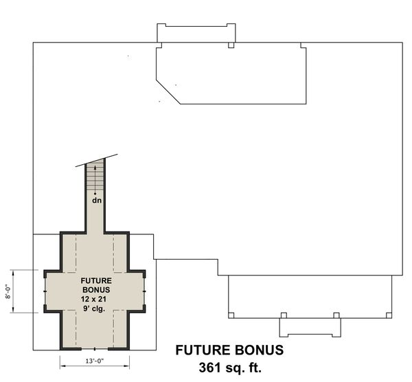 Farmhouse Floor Plan - Upper Floor Plan Plan #51-1144