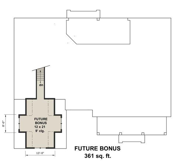 Architectural House Design - Farmhouse Floor Plan - Upper Floor Plan #51-1144