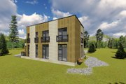 Modern Style House Plan - 3 Beds 2 Baths 1291 Sq/Ft Plan #549-2 Exterior - Rear Elevation