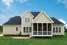 Dream House Plan - Country Exterior - Rear Elevation Plan #929-672
